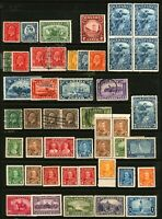 Canada #192-#227 1932-1935 Mint & Used King George V Issues 39 items