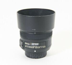 Nikon AF-S 50mm F/1.8G Lens **Hood**Caps**Nice**