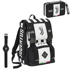 Juventus School Pack 2019/20 Zaino Seven con Astuccio Completo e Orologio Lowell