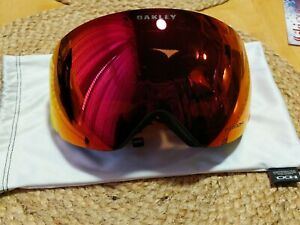 Oakley Flight Deck Ski Goggles With Orange/Yellow Band And  Prizm Lens