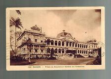 1933 Saigon Vietnam RPPC Postcard Cover To France Colonial Governor's Mansion