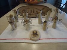 10 Piece Willow Tree Collection plus matching Faith Tray by Michelle Kildow