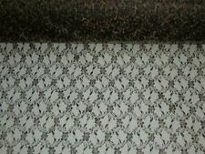 "Leopard lace fabric animal print material 2 separate designs By the yard X 55""W"