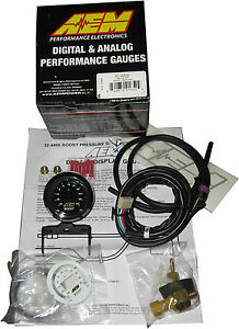 AEM 30-4406 52MM DIGITAL 35psi ELECTRONIC TURBO BOOST GAUGE - FULL WARRANTY !!