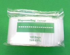 "4mil Ziplock Bags 3""x4"" Reclosable Clear THICK Heavy Duty Bags 100 pcs reloc 3x4"