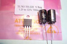 Tl783 tl783c 1.25 125v 700ma Spannungsregler mit Kondensatoren QTY. 1 NEU