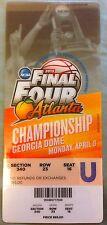 1-8 2013 FINAL FOUR CHAMPIONSHIP COLLEGE BASKETBALL GAME TICKET STUB LOUISVILLE