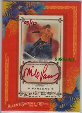 2010 TOPPS ALLEN & GINTER RED INK AUTO: MIKE PARSONS #3/10 AUTOGRAPH SURFER