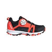 adidas Terrex Agravic Boa Junior Kids Trail Hiking Trainer Shoe Black/Red