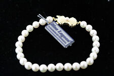 Mikimoto Blue Lagoon 5.5-6.0mm Pearl Bracelet 7 Inch 14k Yellow Gold Clasp