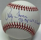 Athletics Catcher RAY FOSSE Signed Official MLB Baseball w/ 73-74 WS Champs JSA