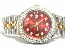 Rolex mens two tone diamond dial diamond Bezel 36mm Datejust automatic watch