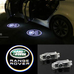 2X LED Car Door Courtesy Projector Puddle Light For Land Rover Range Rover LR