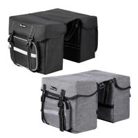 28L Cycling Bicycle Bike Rack Back Rear Seat Tail Carrier Trunk Pannier Bag