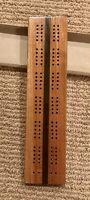 Vtg Drueke No. 99x Wood Cribbage Board 1960 w/ Box & Instructions Hardwood