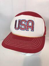 8ebffe700d2e10 VINTAGE TRUCKER BASEBALL HAT USA MERICA RED WHITE FREE US SHIPPING