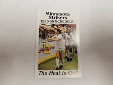 Minnesota Strikers 1985/86 MISL Indoor Soccer Pocket Schedule - KMSP