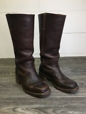 FRYE BOOTS VTG CAMPUS TALL RIDING LEATHER DARK BROWN SHOE WOMEN SIZE 6 M