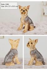 Yorkshire Terrier Dog Figure Pet Animal Model Artware Decor Collector Gift Toy