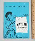 Vintage 1957 Maytag Wringer Washer Instruction Manual Book Newton Iowa  photo