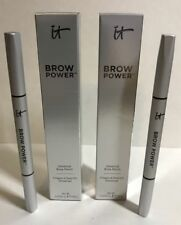 2 LOT: IT Cosmetics BROW POWER Brow Pencil UNIVERSAL TAUPE Full Size NEW IN BOX!