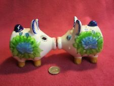 Vintage Chadwick Magnet Pig Salt and Pepper Shakers Ceramic                   22