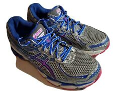 Asics Women's T3R5N GT-1000 Gel Silver Blue Pink Running Sneaker Shoes Size 8.5
