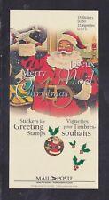 Canada Stamps - Cinderellas - Xmas (Santa Claus) Add-ons for #1600-01 - Sheet/15