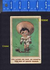 Bamforth Comic She Loves Me Not Ink Bottle Boy 1914 ARCADE NEW YORK Postcard