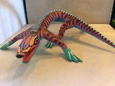 Mexican Oaxaca Wood Carved Iguana/ Lizard-Hand Made~Painted