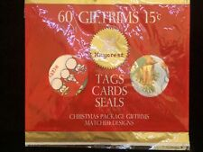 "Vintage Christmas Kaycrest ""Giftrims"" Gift & Card Tags Seals- Nos 60 Pieces"