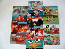 DISNEY PARKS 13 GIFT CARD SET DISNEYLAND CARS MICKEY MINNIE NEMO BUZZ SULLY 2015
