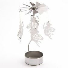 Fairy Tealight Powered Spinner 14cm High Tea Light Holder Spinning Decoration