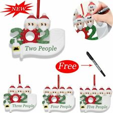 Diy Personalized Christmas 2020 Snow Family Santa Home Party Hanging Ornaments