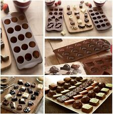 Set of 3 CHOCOLATE Making Moulds PARTY MIX, SHELLS & OVAL Silicone CHRISTMAS