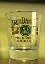 """Jack Daniels 1960s Old No 7 Green & Gold Shot Glass """"Old Time Sour Mash"""" Whiskey"""