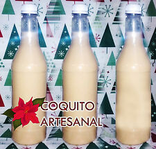 Coquito Artesanal Puerto Rico 3 Botellas.750mil Navidad Christmas Drink 3 Bottle