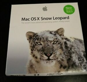 NEW Apple Snow Leopard Mac OS X 10.6.3 MC573Z/A