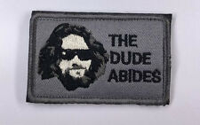 THE DUDE ABIDES  ARMY LOGO Tactical MORALE EMBRODIERY HOOK PATCH  sh + 904