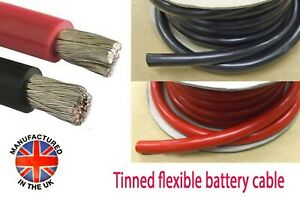 OCEANFLEX TINNED Battery Cable 70mm²/485amp (00AWG) MADE IN THE UK  BAT485xxxTIN
