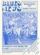 Birmingham City v Derby County 1985/6 (10 Aug) Friendly