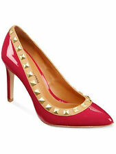 SEXY COSMOPOLITAN EMILIA 6.5 RED STUDDED TRIM WOMEN'S HIGH HEEL PUMP SHOES NEW