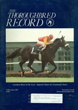 1985 Thoroughbred Record Magazine: Imperial Choice - Canadian Horse of the Year