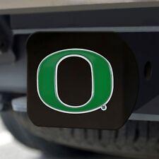 Oregon Ducks Heavy Duty 3-D Color Emblem Black Chrome Metal Hitch Cover