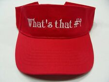 what's That #? -rojo- Talla Única - Ajustable VISERA SOL