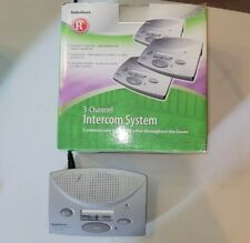 RadioShack 3-Channel Fm Wireless Intercom System 43-3105 Lock Button 4xUnits
