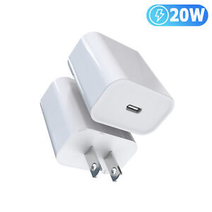20W PD USB-C Power Adapter Fast Wall Charger Cable For iPhone 12 11 Pro Max 13 X