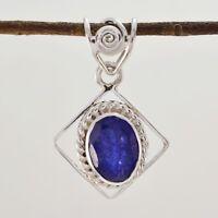Fair indischen Saphir 925 Sterling Silber blau Anhänger Großhandel de