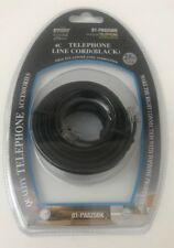 Black Telephone Line Cord_25ft/7.6cm Modular Phone Line Cord-6P4C Wire Cable E52