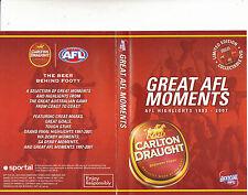 Great AFL Moments-AFL Highlights 1993-2007-Football Australia-DVD